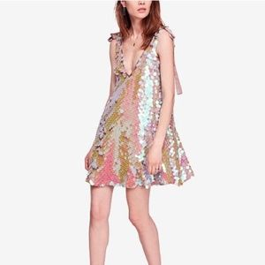 NEW NWT Free People Penelope Sequin Mini Dress